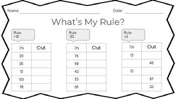 What's My Rule