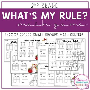 What's My Rule? Math Game