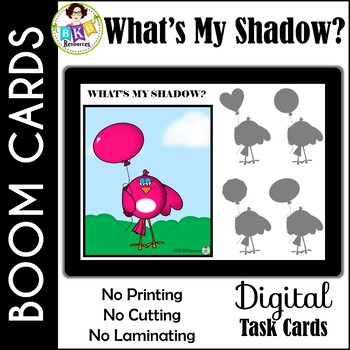 What's My Shadow?● Digital Task Cards ● Boom Cards ● Visual Discrimination