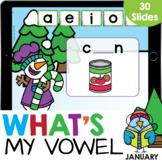 What's My Vowel CVC Words Snowman Kindergarten Reading Goo