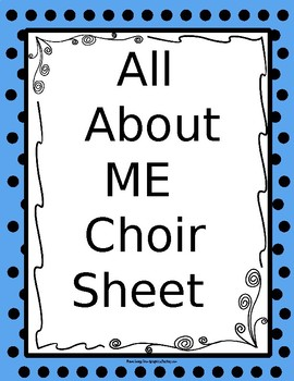"What's ""New with Me?"" Choir Worksheet"
