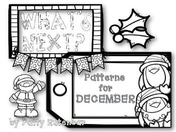 What's Next December Patterns - Black & White