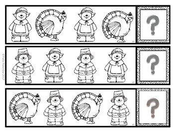 What's Next November Patterns in Black and White - Great for Kindergarten