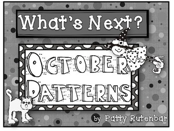 What's Next October Patterns in Black and White