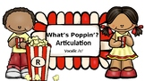 What's Poppin'? Articulation: Vocalic /r/ with Flashcards