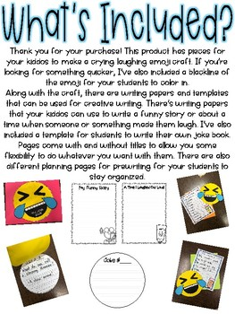What's So Funny?: April Fool's Writing Craftivity