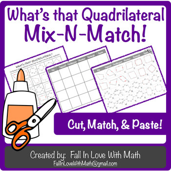 $1 FLASH SALE!  What's That Quadrilateral Mix-N-Match!