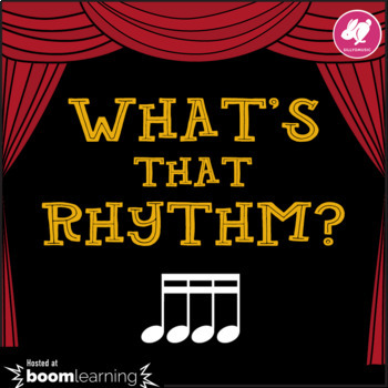 What's That Rhythm? 16th Notes - BOOM Cards