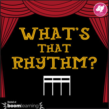 What's That Rhythm? 16th Notes - STICK NOTATION - BOOM Cards