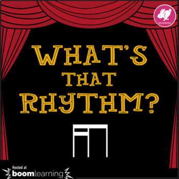 What's That Rhythm? 16ths-8th Notes - STICK NOTATION - BOOM Cards