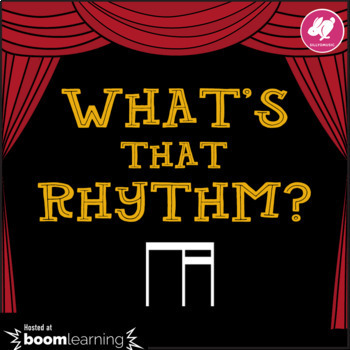 What's That Rhythm? 8th-16th Notes - STICK NOTATION - BOOM Cards