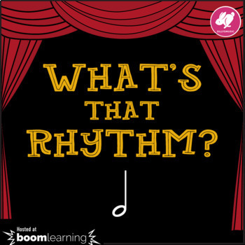 What's That Rhythm? Half Note - STICK NOTATION - BOOM Cards