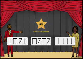 What's That Rhythm? Quarter Note, Rest, 8th Notes - STICK NOTATION - BOOM Cards