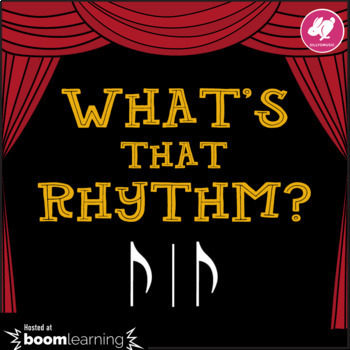 What's That Rhythm? Syncopa - STICK NOTATION - BOOM Cards