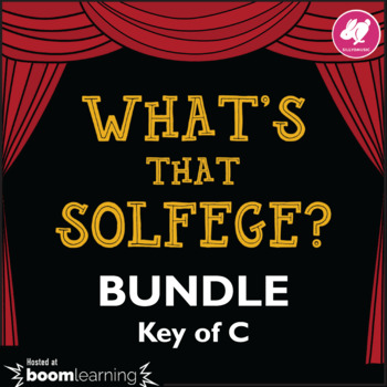 What's That Solfege? Melody BUNDLE - BOOM Cards (Drag & Drop)