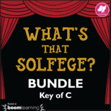 Music Distance Learning: What's That Solfege? BUNDLE Key o