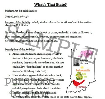 What's That State?  *Mini Lesson*