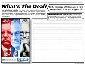 What's The Deal? Comparing the Square Deal, New Deal, & Bernie Sanders