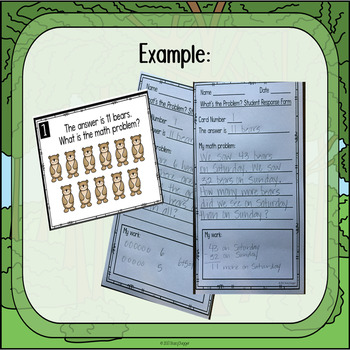 What's The Problem? Forest Theme Math Problem Solving Task Cards