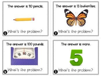 What's The Problem - Higher level math thinking