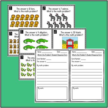 What's The Problem? Zoo Theme Math Problem Solving Task Cards