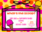 What's The Scoop? Main Idea and Details Activity and Anchor Chart RI 1.1 RI 2.1