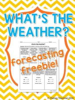 What's The Weather Forecasting FREEBIE!