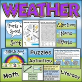 Weather | Coordinating Math and Literacy Activities | Science Puzzles and Games