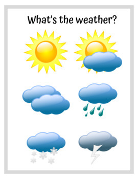 What's The Weather? - Posters for Pre-K and Kindergarten - by AllDayABA