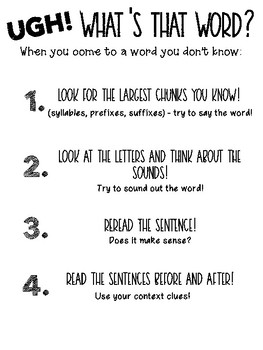 What's The Word Anchor Chart