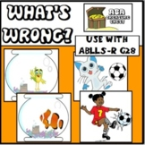 What's Wrong? Labels features that are incorrect  Autism, ABA Use w/ ABLLS-R G28