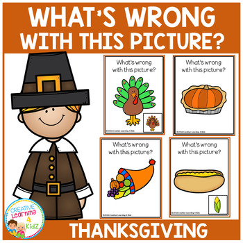 What's Wrong With This Picture Cards: Thanksgiving