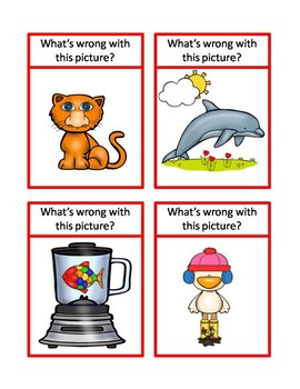 What's Wrong with This Picture problem solving activity cards