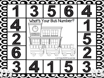 NO PREP Go to School Themed Number Identification Spot and Dot Game