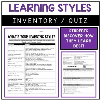 This is a photo of Astounding Printable Learning Style Quiz