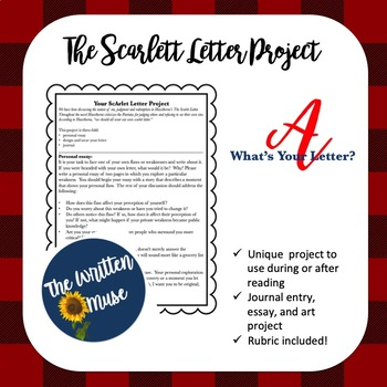 What's Your Letter? A Scarlett Letter Project.
