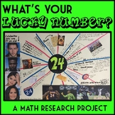 What's Your Lucky Number? End of Year Math Research Project, 4th - 6th Grade