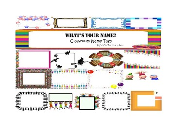 What's Your Name? Classroom Name Tags