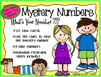 What's Your Number Mystery Numbers Place Value Task Card A