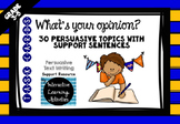 Persuasive Opinion Writing Task Cards
