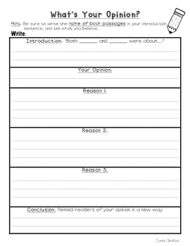 What's Your Opinion Writing Template