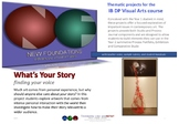 What's Your Story - finding your voice - IB DP Visual Arts