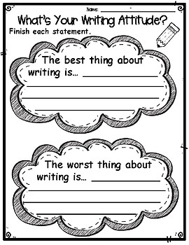 What's Your Writing Attitude? Student Survey