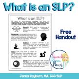 What's an SLP? Handout