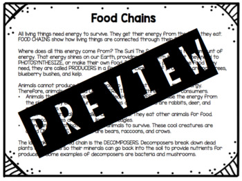 What's for Dinner? Food Chain Game