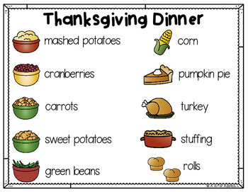 Thanksgiving Dinner: A Differentiated Writing Center Activity