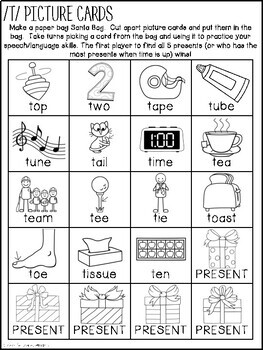 What's in Santa's Bag? {A Speech and Language Activity}