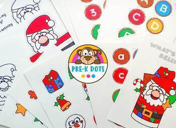 What's in Santa's Belly? STEM Christmas Activity Preschool Pre-K and Kinder