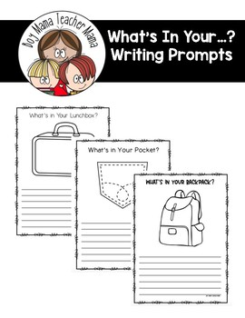 What's in Your...? Writing Prompts