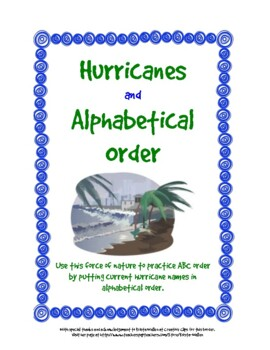 What's in a Name?  Hurricane Names and Alphabetical Order